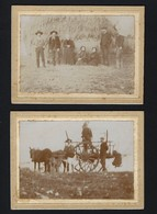 Conjunto De 2 Fotografias Antigas (Montemor O Novo?) Carroça Alentejo. Set Of 2 Old Photos PORTUGAL - Photos