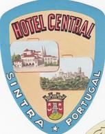 PORTUGAL -  HOTEL LUGAGGE  LABEL - HOTEL CENTRAL - SINTRA - Hotel Labels