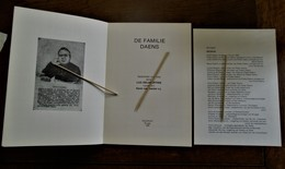 Boek   Gedichten In Proza Door Luc  DELAFORTRIE     Met Bijvoegsel            De Familie  DAENS  --- AALST - Culture