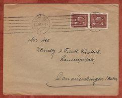 Drucksache, Diller Hamburg, Ziffer, Nach Donaueschingen 1922 (72442) - Briefe U. Dokumente