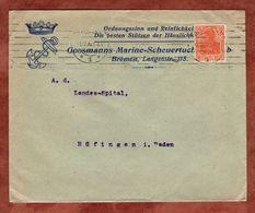 Drucksache, Goosmanns Marine-Scheuertuch Bremen, Germania, Nach Huefingen 1920 (72443) - Briefe U. Dokumente