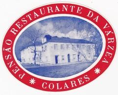 PORTUGAL -  HOTEL LUGAGGE  LABEL - PENSÃO RESTAURANTE DA VÁRZEA - COLARES - Hotel Labels