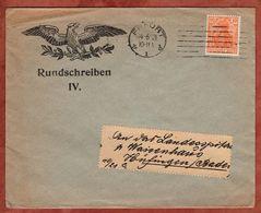 Drucksache, Adler Erfurt, Germania, Nach Huefingen 1921 (72444) - Briefe U. Dokumente