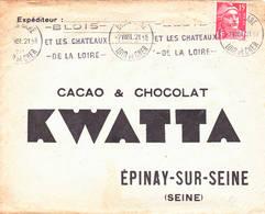 Gandon 1951 Blois Loir Cher Illustrée Cacao Chocolat - Postmark Collection (Covers)