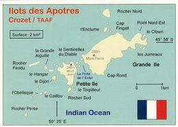 1 MAP Of Apotres Islands Zu Den Crozet Inseln * TAAF * Inselgruppe Im Indischen Ozean * - Cartes Géographiques