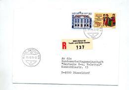 Lettre Recommandee Zurich  Mode Center Sur Europa - Postmark Collection