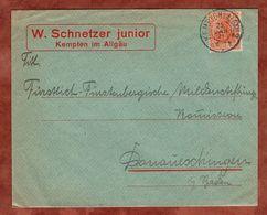 Drucksache, Schnetzer Kempten, Germania, Nach Donaueschingen 1921 (72445) - Briefe U. Dokumente