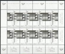 """Österreich 2000:  Block  """"Tag Der Briefmarke"""" Schwarzdruck Gez. Postfrisch (siehe Foto/Scan) - 1945-.... 2ème République"""