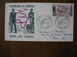 FDC 1962   République Du Sénégal   FONDATION D'AIR AFRIQUE 17/2/1962 - Sénégal (1960-...)