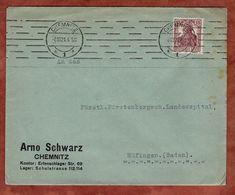 Drucksache, Arno Schwarz Chemnitz, Germania, Nach Huefingen 1921 (72447) - Briefe U. Dokumente
