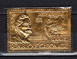 GABON PA N° 41  NEUF SANS CHARNIERE COTE  75.00€    ALBERT SCHWEITZER TIMBRE OR  VOIR DESCRIPTION - Gabon (1960-...)