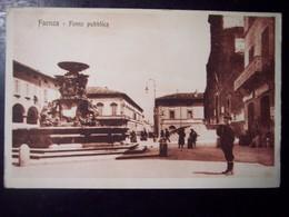 Faenza (Ravenna): Fonte Pubblica. Cartolina Fp Inizio '900 (ben Animata) - Faenza