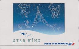 Télécarte Japon / 110-011 - AIR FRANCE - AVIATION - TOUR EIFFEL & ZODIAQUE - PLANE AIRLINES Japan Phonecard - Avion 2239 - Avions