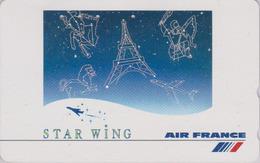 Télécarte Japon / 110-016 - AIR FRANCE - AVIATION - TOUR EIFFEL & ZODIAQUE - PLANE AIRLINES Japan Phonecard - Avion 2240 - Avions