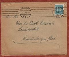 Drucksache, Gustav Diller Hamburg, Ziffer, Nach Donaueschingen 1921 (72449) - Briefe U. Dokumente