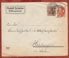 Drucksache, Rudolf Scheller Hildburghausen, Germania, Nach Huefingen 1921 (72450) - Briefe U. Dokumente