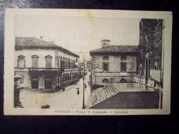Faenza (Ravenna): Piazza V. Emanuele E Cattedrale. Cartolina Fp Inizio '900 - Faenza