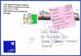 Cover - Returned Mail/ Devolución/ Retour / Póvoa Santa Iria, Portugal To Madrid, Spain - 1910-... Republic