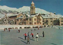 Schweiz - Celerina/Schlarigna - Dorfpartie Mit Eisplatz - Ca. 1980 - GR Grisons