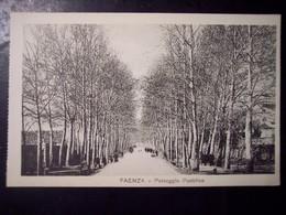 Faenza (Ravenna): Passeggio Pubblico. Cartolina Fp Inizio '900 (animata) - Faenza