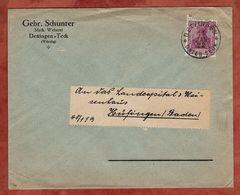 Drucksache, Gebr Schunter Dettingen, Germania, Nach Huefingen 1922 (72452) - Briefe U. Dokumente