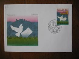 FDC  Enveloppe Slovénie  1997   Slovenija  Oiseaux Colombe - Slovénie