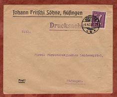 Drucksache, Fritschi Soehne Huefingen, Ziffer 1922 (72453) - Briefe U. Dokumente