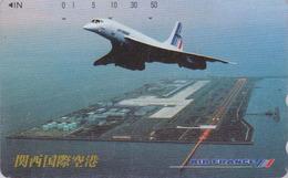 Télécarte Japon / 110-011 - AIR FRANCE - AVION CONCORDE - PLANE AIRLINES Japan Phonecard - FLUGZEUG - Aviation 2241 - Avions