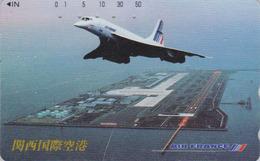 Télécarte Japon / 110-016 - AIR FRANCE - AVION CONCORDE - PLANE AIRLINES Japan Phonecard - FLUGZEUG - Aviation 2242 - Avions