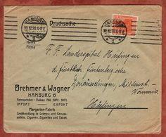 Drucksache, Brehmer & Wagner Hamburg Margarine-Fabrik, Germania, Nach Huefingen 1920 (72454) - Briefe U. Dokumente