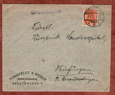 Drucksache, Roennfeldt & Weber Seefisch-Grosshandlung Geestemuende, Germania, Nach Huefingen 1921 (72455) - Briefe U. Dokumente