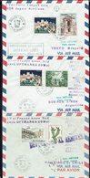 Monaco - 1961 - Lot De Trois Enveloppes 1er Vol Lufthansa Et Japan Air Lines Pour Buenos Aires, Tokio, Santiago - B/TB - - Monaco