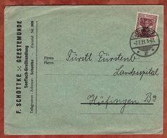 Drucksache, F Schottke Seefisch-Grosshandlung Geestemuende, Germania, Nach Huefingen 1921 (72456) - Briefe U. Dokumente