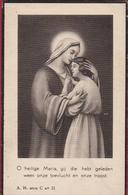 Jan Frans Michiels Maria Van Den Bosch Wommelgem 1934 Bidprentje Doodsprentje Image Mortuaire - Images Religieuses