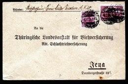 A6125) DR Infla Brief Ottendorf 08.02.22 N. Jena M. Mi.115 Ua. - Briefe U. Dokumente
