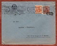 Drucksache, Loens & Lodders Hannover, Germania, Nach Huefingen 1921 + 1932-Stempeldatumfehler (72459) - Briefe U. Dokumente