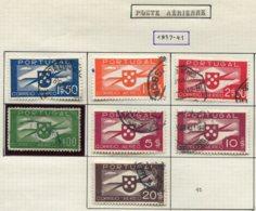 12423 PORTUGAL  PA 1/10 Sauf 4, 8, 10  ° 1937-41  B/TB - Poste Aérienne
