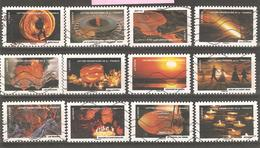 France: Full Set Of 12 Used Stamps, Fire, 2012, Mi#5433-5444 - Francia