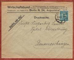 Drucksache, Wirtschaftsbund Berlin, Ziffer, Nach Donaueschingen 1921 (72460) - Briefe U. Dokumente