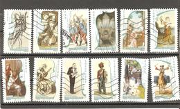 France: Full Set Of 12 Used Stamps, Music And Musicants, 2010, Mi#4807-4818 - Francia