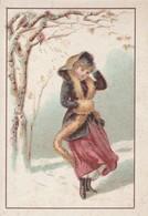 Chromos : Chocolat De L'hermitage De Stérimberg - Tain - Drome : Fille Sous La Neige - Sin Clasificación