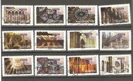 France: Full Set Of 12 Used Stamps, Churches, 2011, Mi#5081-5092 - Francia
