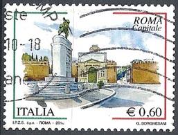 Italia, 2010 Roma Capitale 0.60 € # Sassone 3192 - Michel 3402 - Scott 3021  USATO - 6. 1946-.. Repubblica
