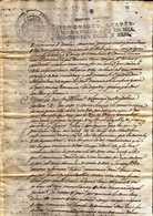 GIROSTAMPS54 - ANTIGUO DOCUMENTO FISCAL DE FERNANDO VII CON SELLO CUARTO DE CUARENTA MARAVEDÍS DEL AÑO 1816 - Fiscales