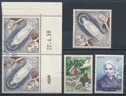 °°° MONACO - Y&T N°492/94 - 1958 MNH °°° - Monaco