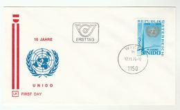 1976 AUSTRIA FDC UNIDO Stamps Cover United Nations Un - UNO