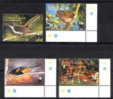 St. Lucie 2001 Mi. Nr.: WWF Einheimische Vögel  Neuf Sans Charniere / Mnh / Postfris - St.Lucia (1979-...)