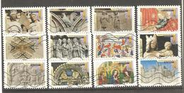 France: Full Set Of 12 Used Stamps, Gothic Art, 2015 - Francia