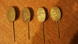 4 Pins Distintivi Delle Olimpiadi Di Tokyo 1964 Vintage - Altri