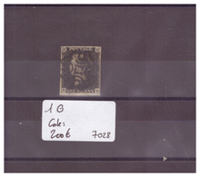 GRANDE BRETAGNE - No 1 OBLITERE ( BIEN MARGE ET OBLITERATION PROPRE )   - !!!WARNING: NO PAYPAL!!! - COTE: 200 € - 1840-1901 (Victoria)